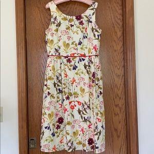 Lands' End floral midi dress, Size 12